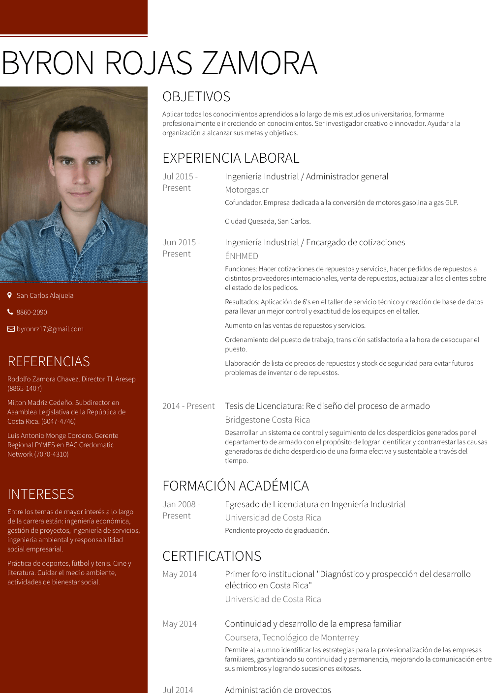 Administrador Resume Samples And Templates Visualcv