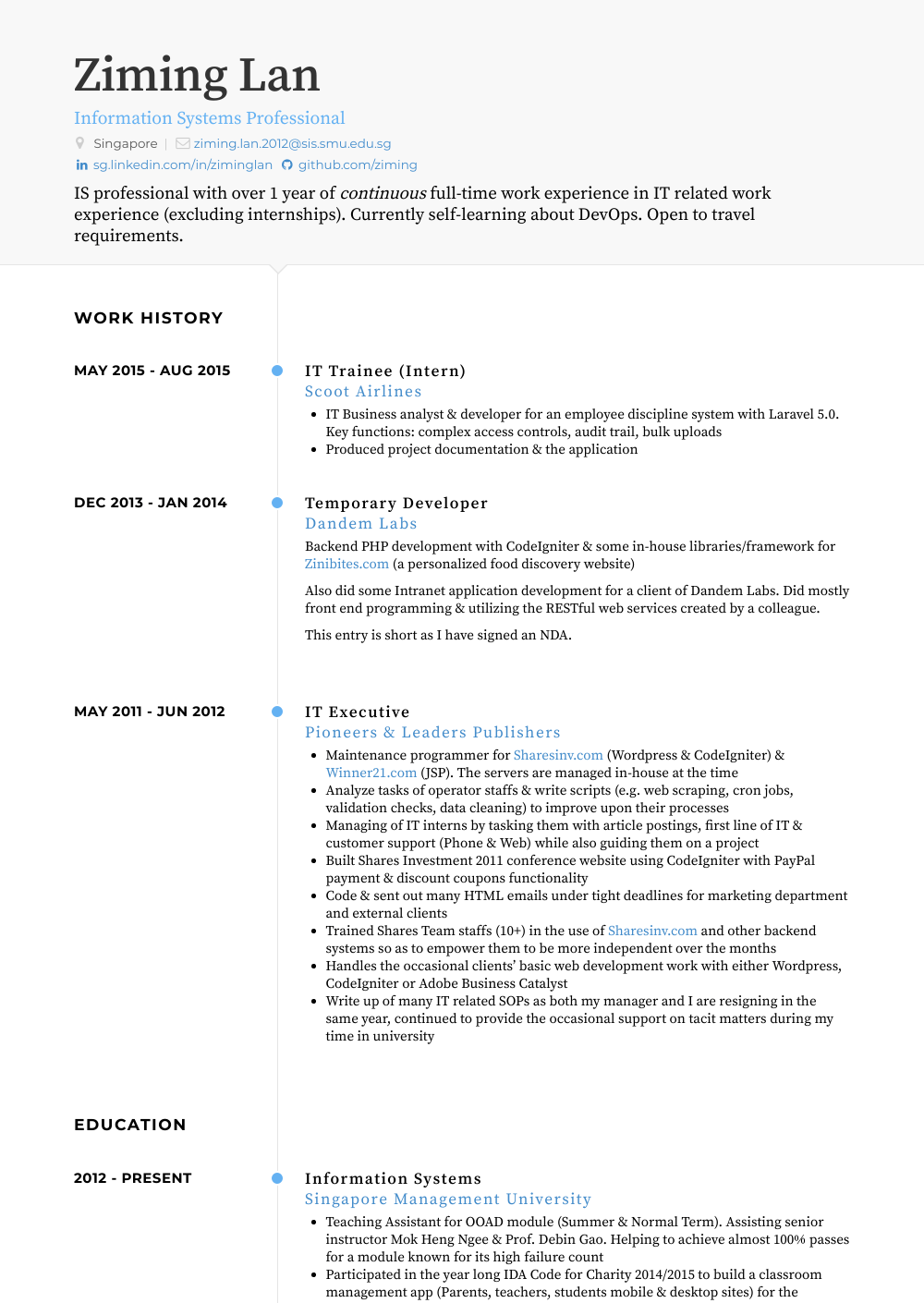 Trainee Resume Samples Amp Templates VisualCV