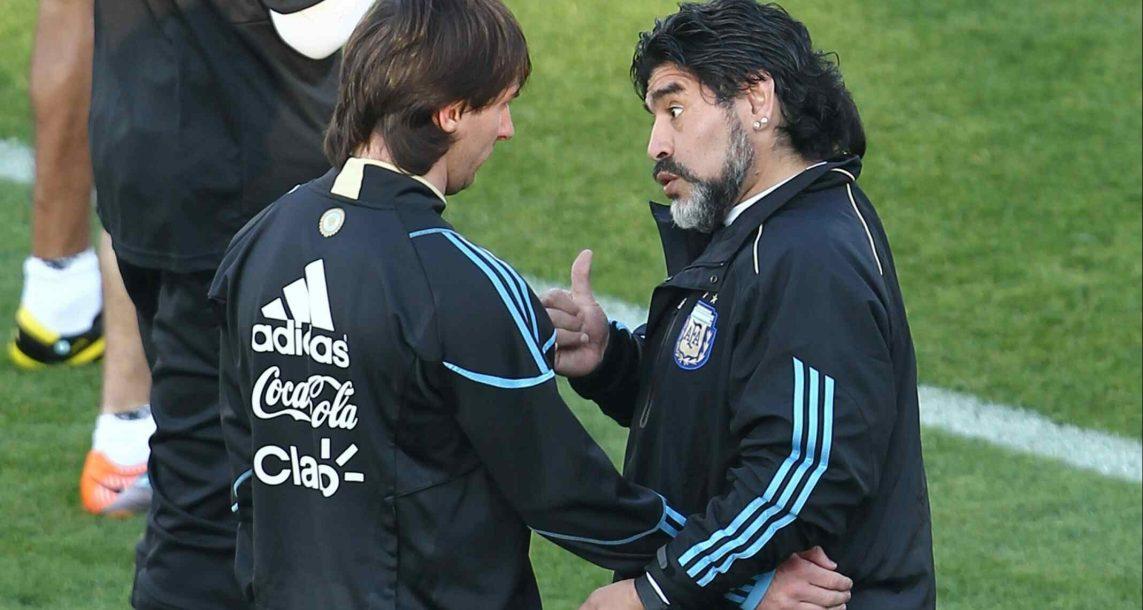 Diego Maradona le pide a Messi que disfrute de la Fiesta delFútbol