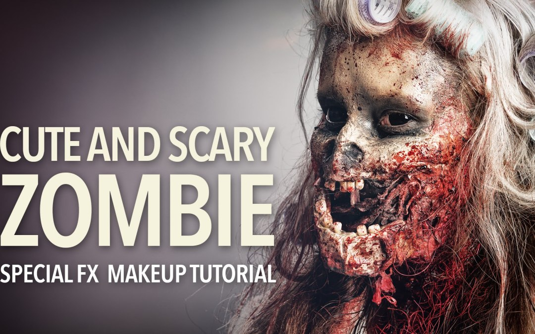Cute and scary zombie special fx makeup tutorial