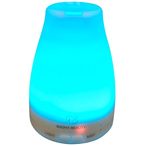 Aromatherapy Essential Oil Diffuser 7 colors – 120 ml Portable Ultrasonic Cool Mist Aroma Humidifier with changing Colored LED Lights, Waterless Auto Shut-off and Adjustable Mist mode