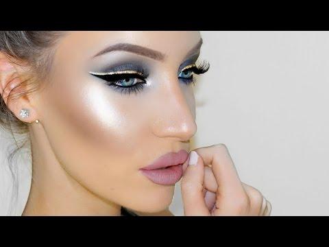 Silver + Gold Smokey Eye Makeup Tutorial | STEPHANIE LANGE