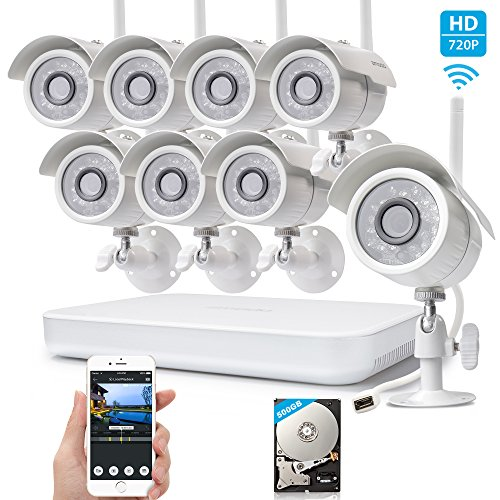 Zmodo 8-Channel HD 1080P Security System IP Network NVR 500GB HDD and