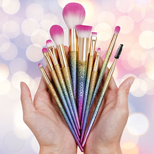 Docolor Makeup Brushes,10Pcs Fantasy Set Foundation Powder Eyeshadow Kits