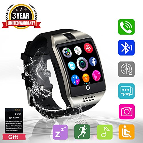 Bluetooth Smart Watch Touchscreen with CameraUnlocked Watch Cell Phone with Sim Card SlotSmart Wrist WatchWaterproof Smartwatch Phone