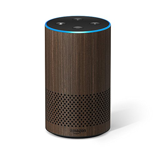 All-new Echo (2nd Generation) with improved sound powered by Dolby and a new design – Walnut Finish