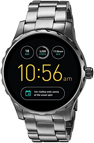 Fossil Q Marshal Gen 2 Smoke Stainless Steel Touchscreen Smartwatch FTW2108
