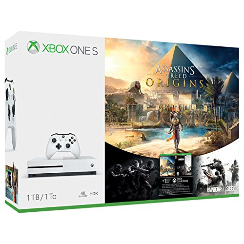 Xbox One S 1TB Console – Assassin's Creed Origins Bonus Bundle