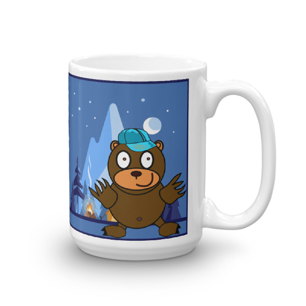 Funny Camping Coffee Mug (With Cute Bear)
