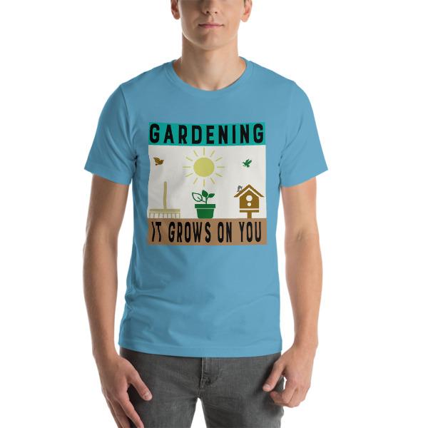 mockup 4472368d - Funny Gardening Saying Short-Sleeve Unisex T-Shirt