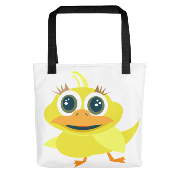 mockup fece8e16 - Cute Yellow Duckie Tote Bag