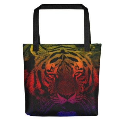 mockup 99c5f96a - Fierce Gradient Style Tiger Tote Bag