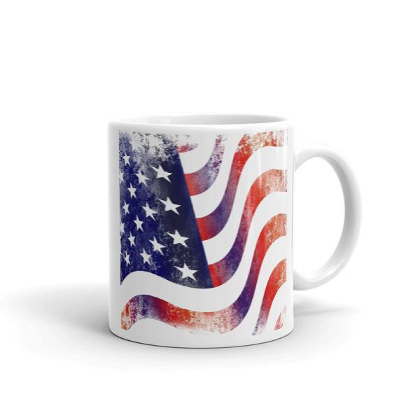 American Flag Mug (Textured Grunge)