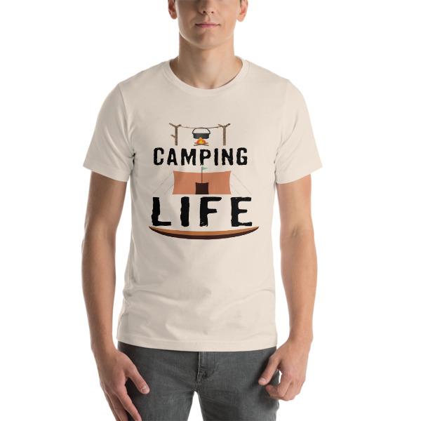 mockup d1c53ebb - Camping T-Shirts - Camping Life Short-Sleeve Unisex T-Shirt