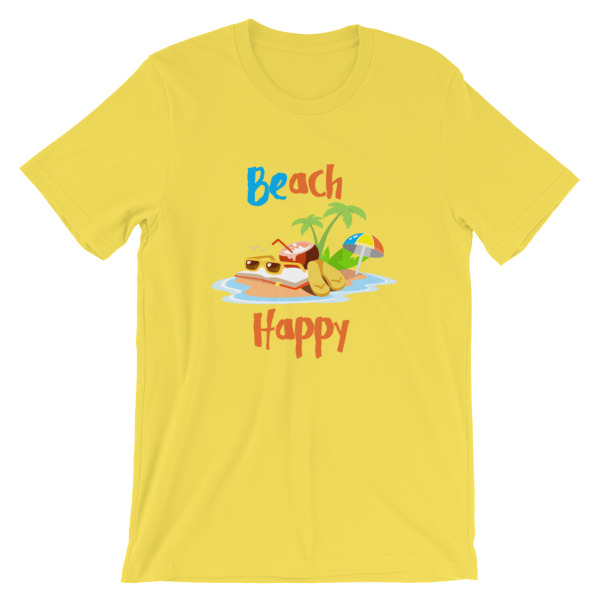 mockup a26832be - Beach Happy T-Shirt - Beach Short-Sleeve Unisex Tee