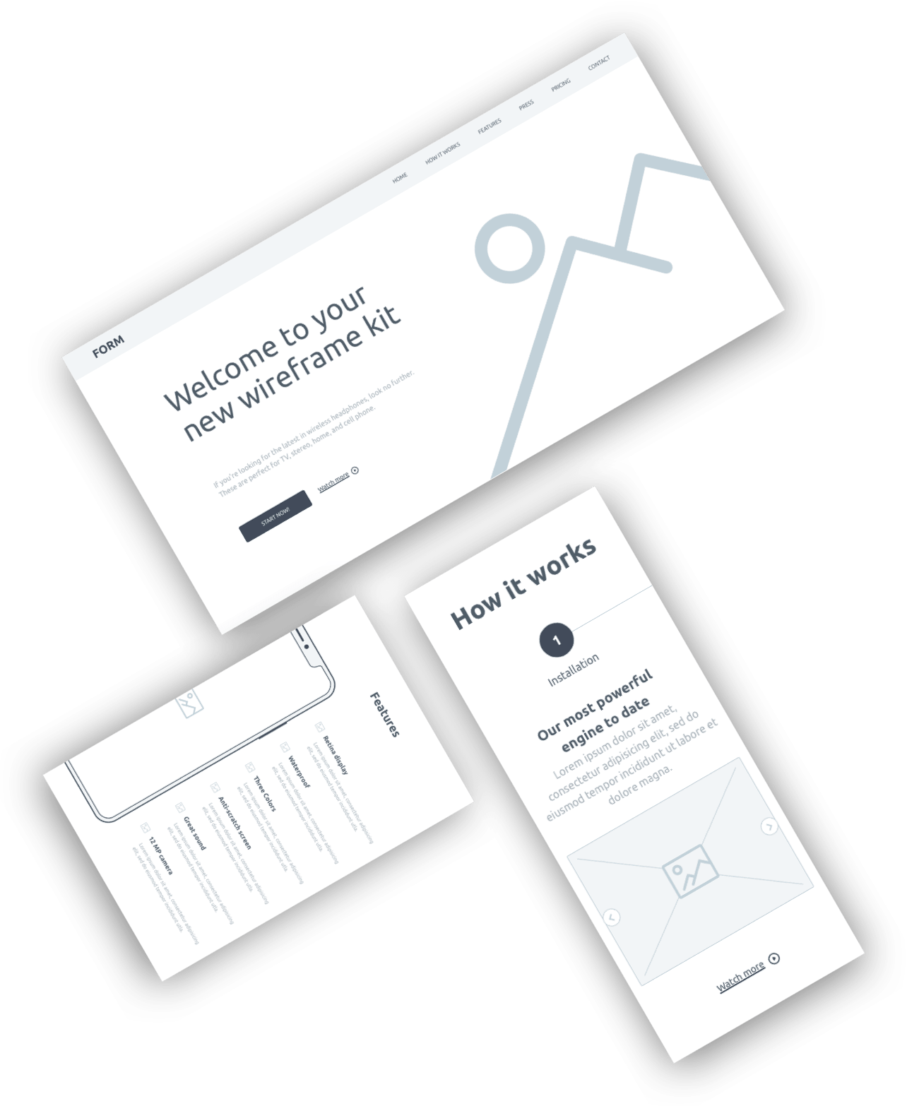 Form Free Wireframe Kit From Invision