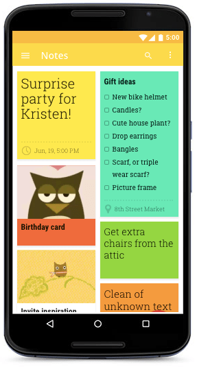 Screenshot: Google Keep