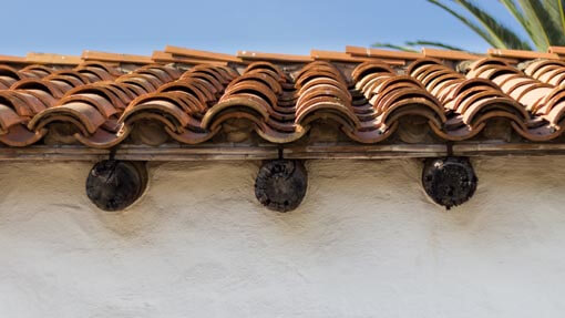 authentic clay tile roofs in santa