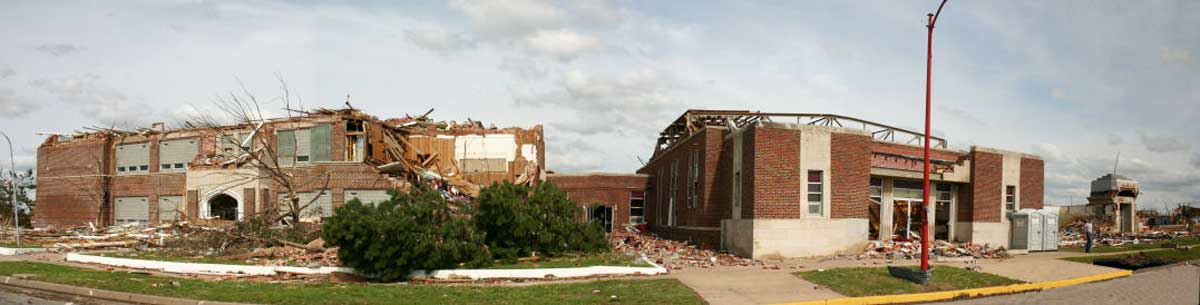 Greensburg High School, as it was seen during the NWS damage survey (Jeff Hutton)