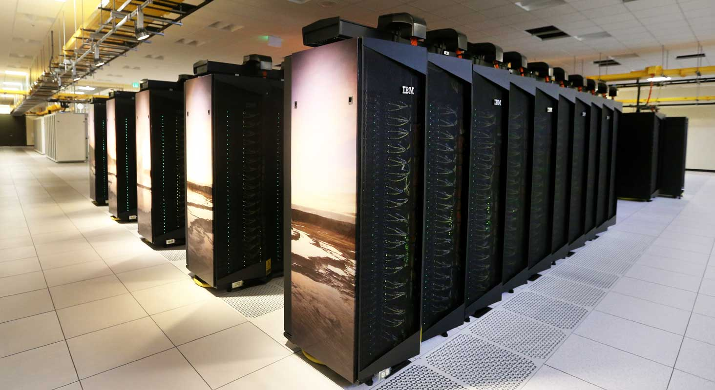 This 2015 photo shows Cheyenne's predecessor the Yellowstone supercomputer. (Michael Smith/The Wyoming Tribune Eagle via AP)