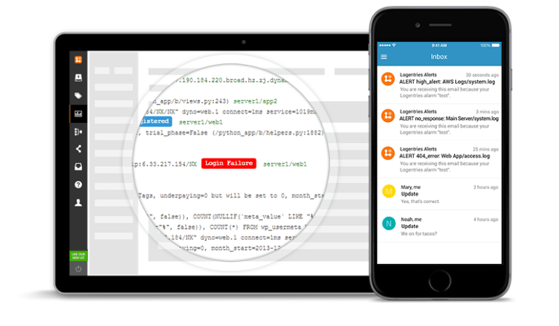 Logentries by Rapid7 Alerts, Tracking across Multiple Platforms