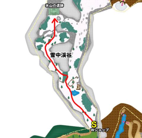 氷山の遺跡マップ