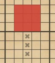 攻撃 直線3マス