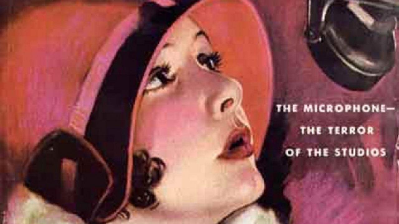 silent film microphone talkies
