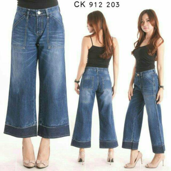 U-8 Promo Terbaru Celana Jeans Kulot cK 915 204 -203 Low Price