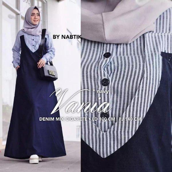 Gamis Wanita  MAXI VANIIA Tanpa Pasmina - Gamis Casual - Gamis kantor - Gamis Modern - Fashion Muslim