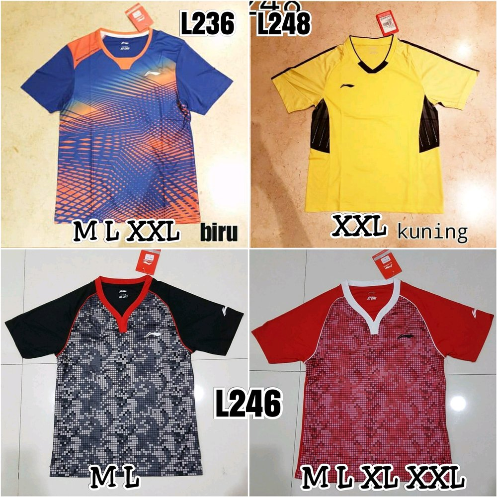 Download Kaos Badminton Lining Import - Jersey Terlengkap