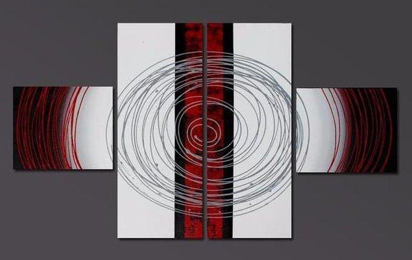 Hiasan Dinding Abstrak 4In1