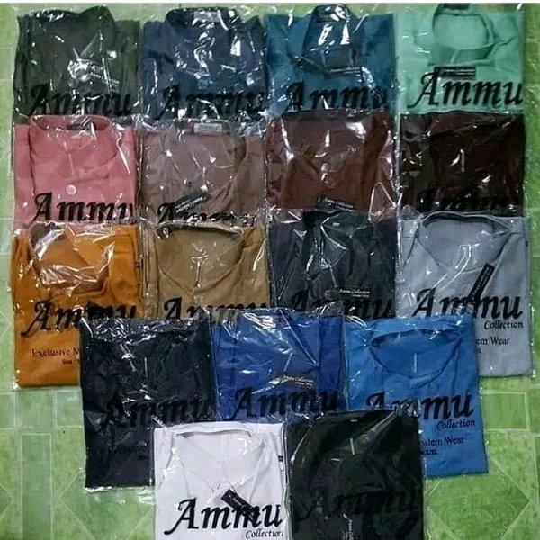 baju koko AMMU collection baju taqwa salaf bahan katun baju muslim pria