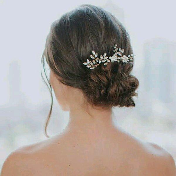 Jual Tusuk Konde Sanggul Modern Set 3 Pcs Silver Hairpin Perak