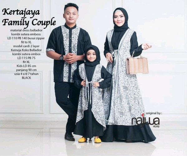 couple 3 ayah ibu dan anak perempuan saeimbit batik kembar tiga couple batik sarimbit baju muslim couple