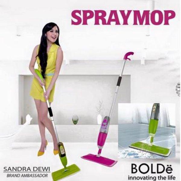 Original!! Alat Pel Lantai Semprot Air Bolde Sapu Lebar Spray Mop Pengepel Kain Microfiber Spraymop
