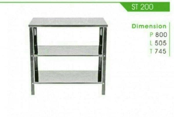 Promo Meja Kompor   Meja Stainless Steel 3 Susun Kitchen Sink   Royal ST200 Limited
