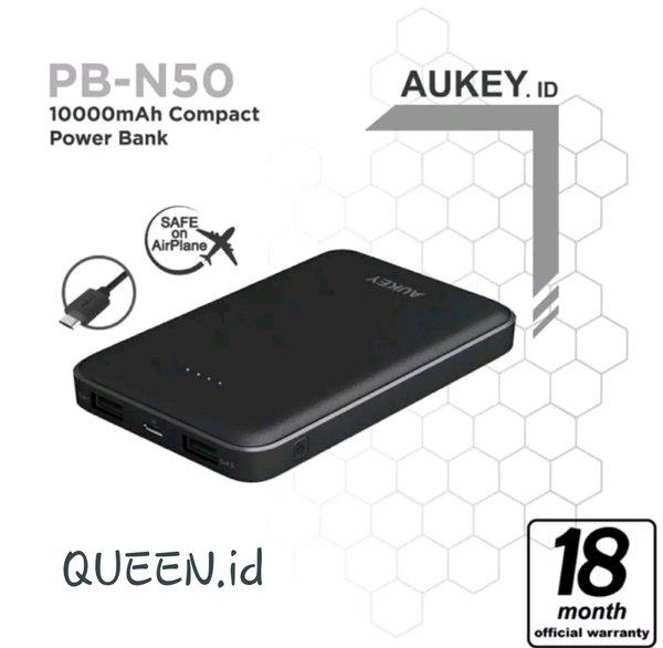 Powerbank AUKEY PB-N50 10000 mAh - Aukey Powerbank 10000 mAh 2.4A