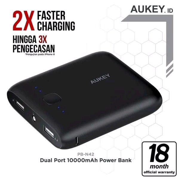 Aukey Power Bank Pocket 10000mAh Powerbank - Hitam Original Garansi Aukey