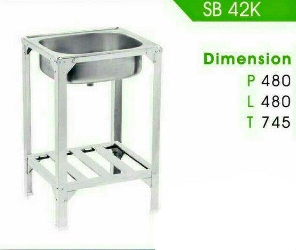 Terlaris - Bak Cuci Piring Kaki Kitchen Sink Stainless Steel Royal SB 42 K