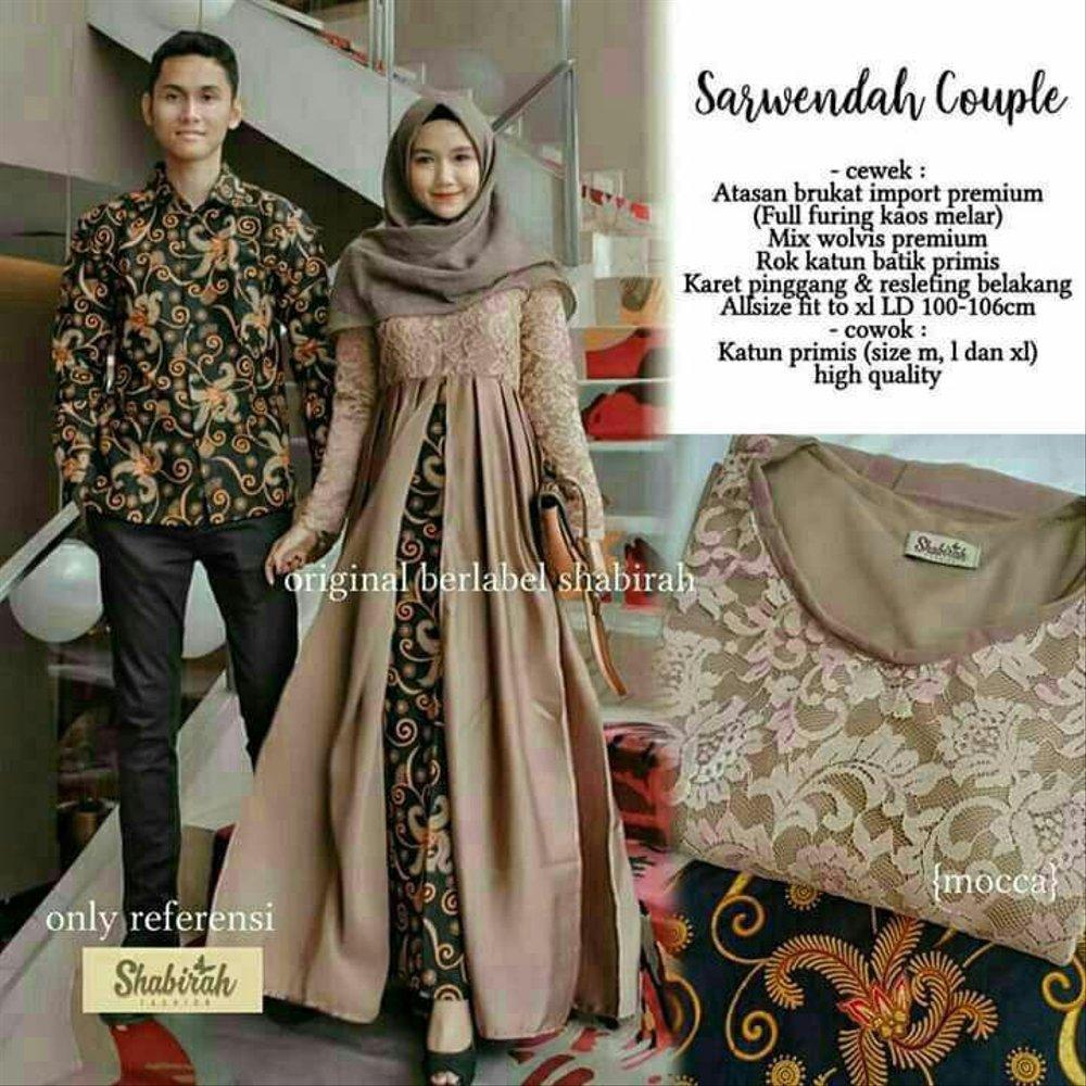 Gamis Couple Modern Bukan Batik Nusagates