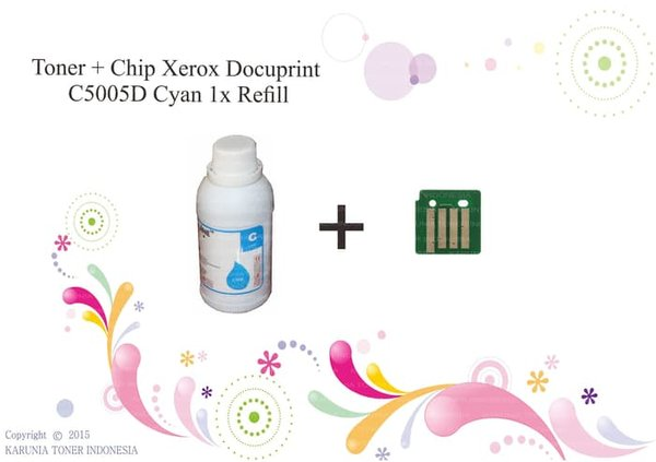Printer Toner  Plus Chip Xerox Docuprint C5005D Cyan