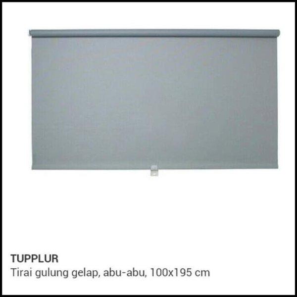 DISKON. - IKEA TUPPLUR TIRAI GULUNG GELAP HITAM DAN PUTIH UK 100 X 195 CM --- GORDEN LUCU