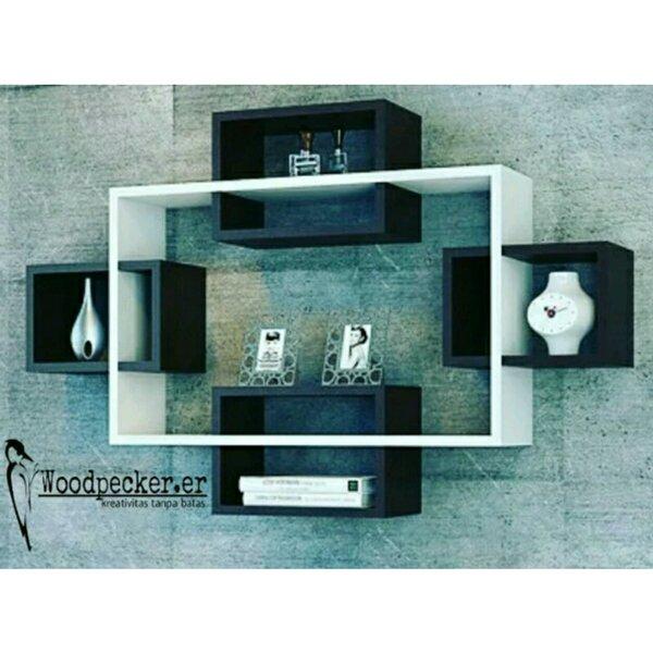 Promo !!! Rak Dinding Minimalis Display 5 Kotak/Floating Shelves/Wall Decor