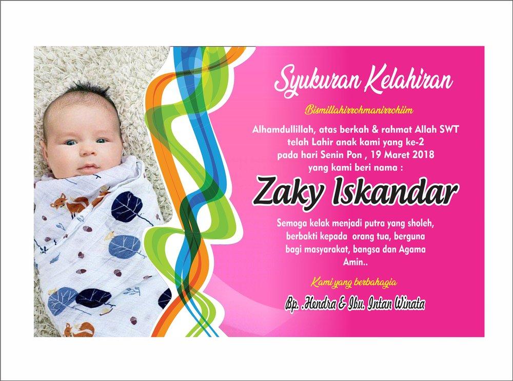 Jual Kartu Ucapan Bayi Selapan Leaflet Baby Syukuran Di Lapak