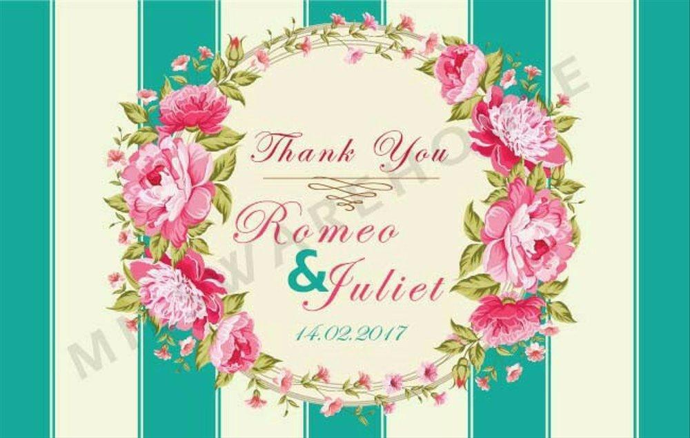 Jual Kartu Ucapan Terimakasih Untuk Souvenir Pernikahan Kut 55 X 35