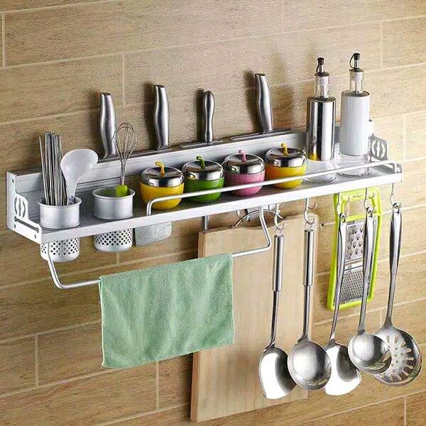 Rak Dinding Almunium Premium Class Penyimpanan Peralatan Dapur