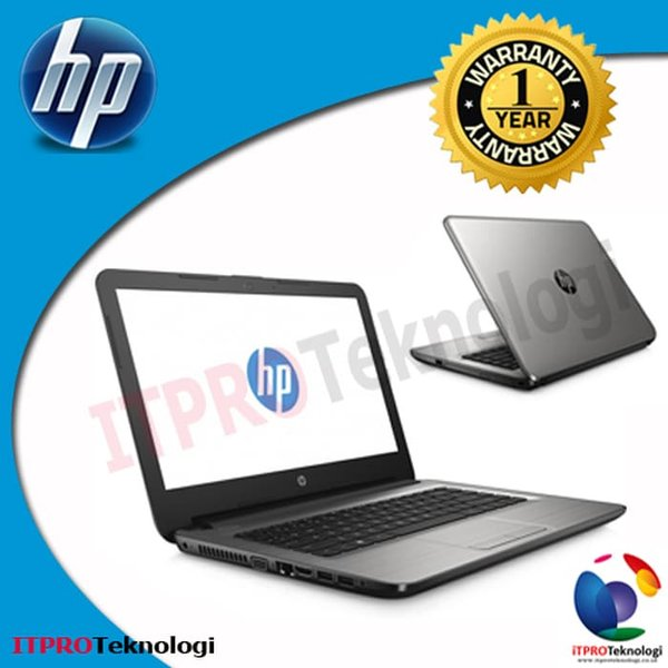Laptop HP 14-AN031AU Silver - AMD E2-7110M-Quad-4GB-500GB-UMA-ODD-14---DOS