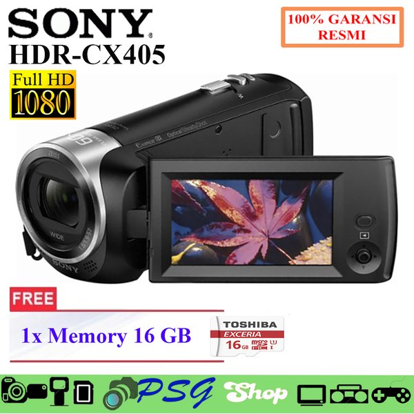 Sony Hdr Cx405 Handycam With Zeiss Lens Exmor R  Full Hd 9.2Mp