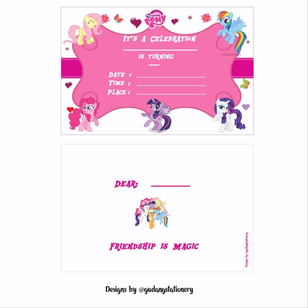 Jual Kartu Undangan Ulang Tahun Anak My Little Pony Di Lapak Tlewang